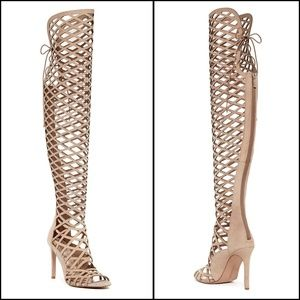 Vince Camuto - Keliana Over the Knee Caged Sandals